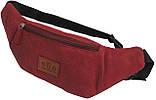 Кожаная сумка на пояс  Always Wild WB-01-18562 красная, фото 4