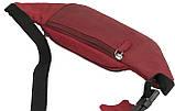 Кожаная сумка на пояс  Always Wild WB-01-18562 красная, фото 5