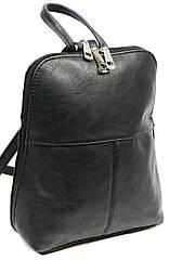 Жіночий рюкзак 4U Cavaldi PC-1A-2 чорний кожзам 6 л