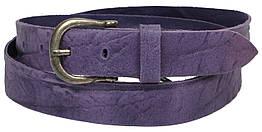 Женский кожаный ремень, Vanzetti, Германия, 100063 фиолетовый, 3х112 см