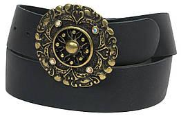 Женский ремень с изящной пряжкой, Vanzetti, Германия, 100044 черный, 4х106 см