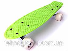 Скейт Penny Board mini, Пенни борд мини, для самых маленьких, от 2 лет, Цвет Зеленый