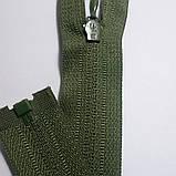 Молния спиральная тип-4, 100 см длина, зеленая, 1 бегунок, разъёмная, фото 2
