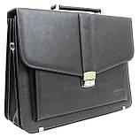 Портфель деловой из эко кожи Verto A13A1 серый, фото 2