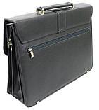 Портфель деловой из эко кожи Verto A13A1 серый, фото 3