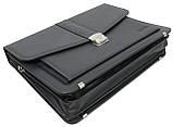 Портфель деловой из эко кожи Verto A13A1 серый, фото 4