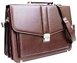 Портфель женский из эко кожи AMO SST11 бордовый, фото 3