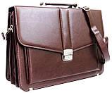 Портфель женский из эко кожи AMO SST11 бордовый, фото 5