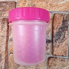 Стакан для мытья лап, лапомойка для собак Soft pet foot cleaner Pink (Для маленьких собак) Розовый, фото 2