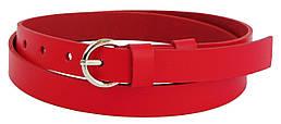Узкий женский ремень из кожи 1,8 см Cavaldi Pd24 красный