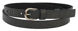 Узкий женский кожаный ремень 1,8 см Cavaldi Pd27 серый