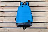 Рюкзак Nike Air, найк аир. Топ качество. Голубой с черным дном. А4, фото 6