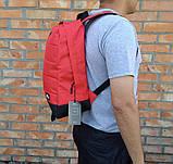 Яркий, стильный рюкзак найк аир, Nike Air. Отличное качество. Красный с черным, фото 3