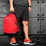 Яркий, стильный рюкзак найк аир, Nike Air. Отличное качество. Красный с черным, фото 8