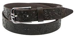 Женский кожаный ремень Skipper 1265-35 коричневый 3,5 см