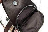 Мужская сумка на одно плечо, слинг Alligator. Коричневая / 2799-1, фото 4