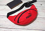 Поясная сумка, Бананка, барсетка пума, Puma. Красная, фото 2