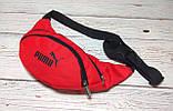 Поясная сумка, Бананка, барсетка пума, Puma. Красная, фото 3