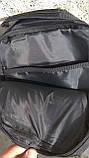 Черная тактическая сумка-рюкзак, барсетка на одной лямке + USB выход. T0445, фото 6