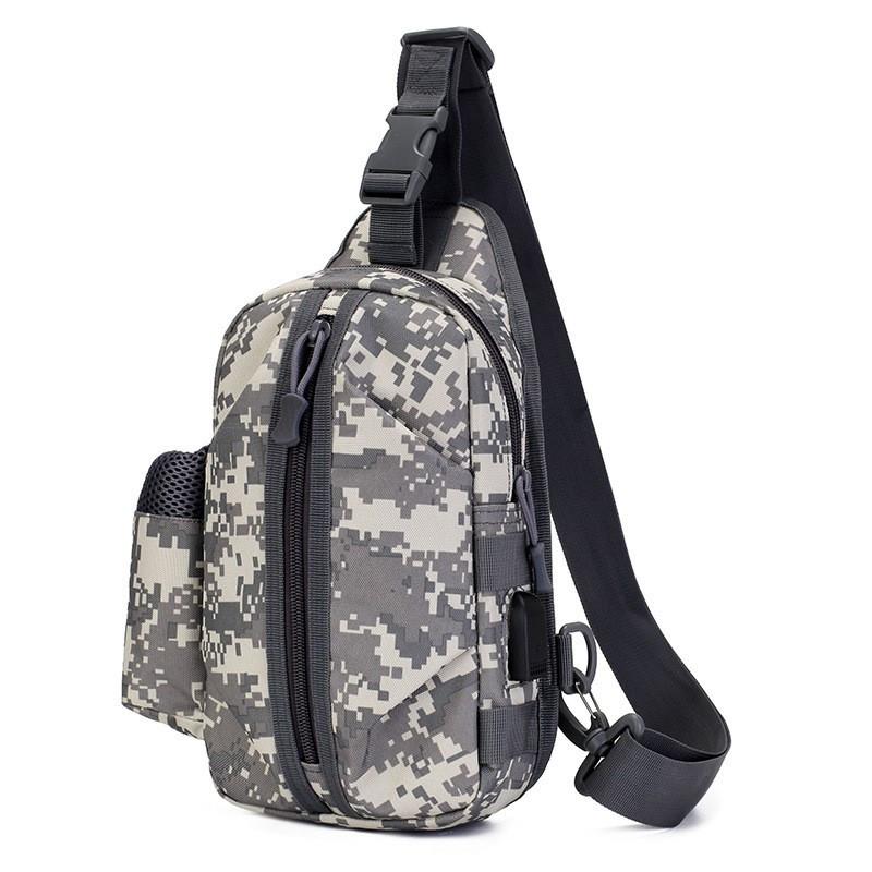 Тактическая сумка-рюкзак, барсетка, бананка на одной лямке, пиксель. T-Bag 448