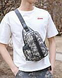 Тактическая сумка-рюкзак, барсетка, бананка на одной лямке, пиксель. T-Bag 448, фото 4