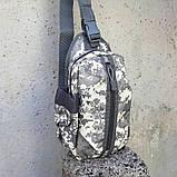 Тактическая сумка-рюкзак, барсетка, бананка на одной лямке, пиксель. T-Bag 448, фото 7