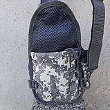 Тактическая сумка-рюкзак, барсетка, бананка на одной лямке, пиксель. T-Bag 448, фото 8