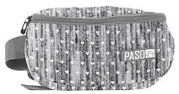 Жіноча поясна сумка, бананка Paso PPMM19-510 сіра