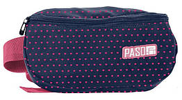 Жіноча сумка на пояс, бананка Paso PPMW19-510 синя