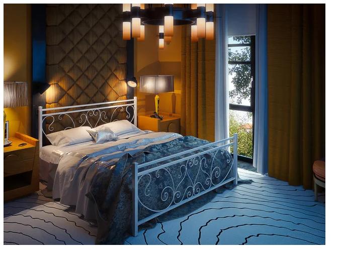 Кровать металлическая - Монстера