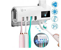 Автоматический держатель диспенсер для зубной пасты и щеток Toothbrush sterilizer УФ-стерилизатор