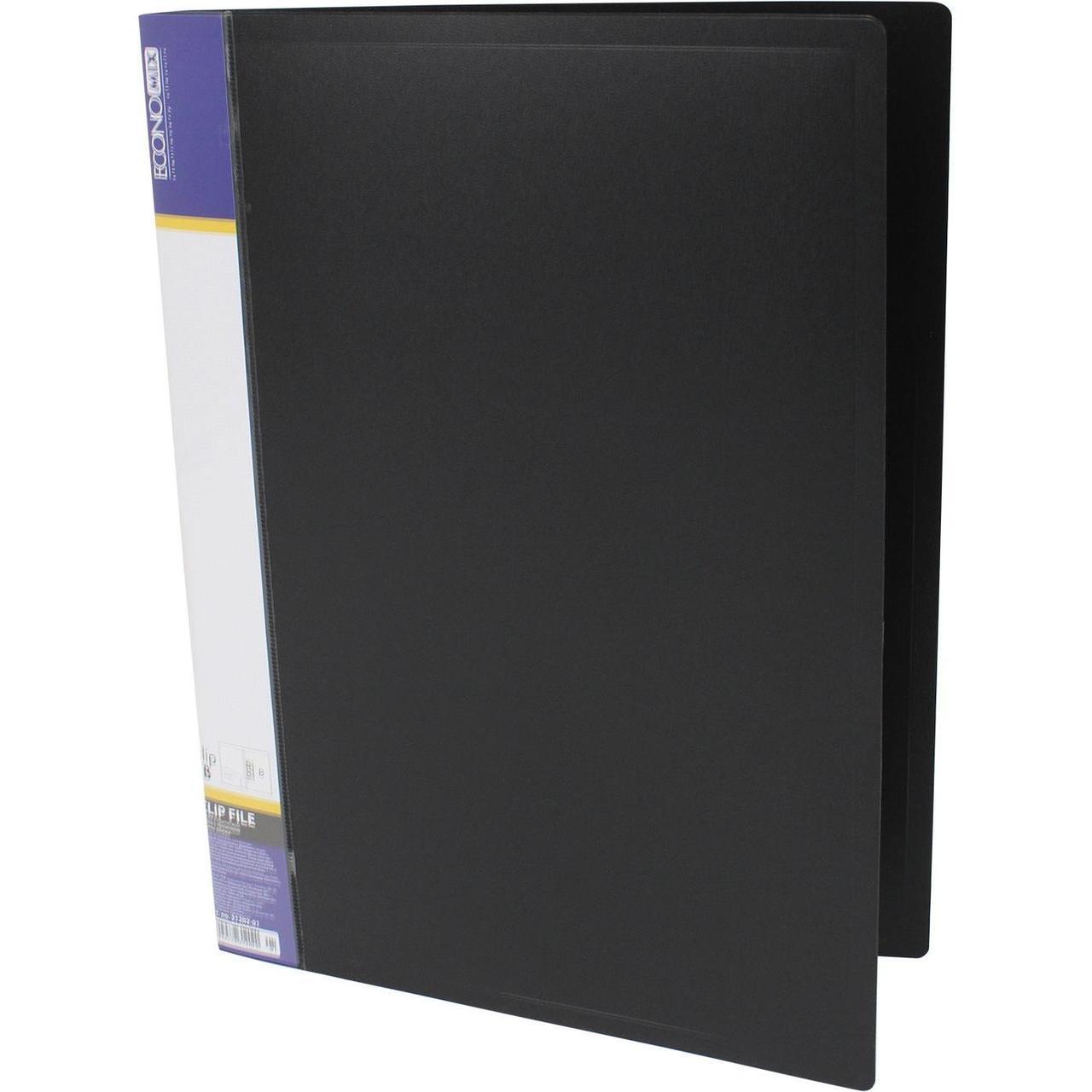 Папка-скоросшиватель пластик Clip B черная