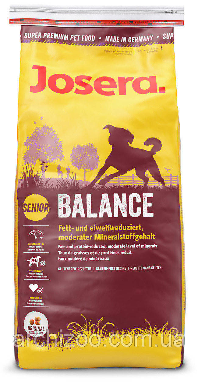 Корм Josera йозера Balance баланс 4,5 кг корм для собак с лишним весом и пожилых