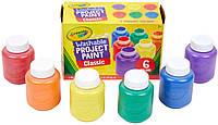 Crayola смываемые краски для детей, в наборе 6 цветов, Crayola Washable Kids Paint