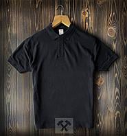 Футболка поло мужская Basic x black | Премиум качества, фото 1
