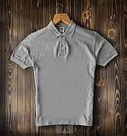 Футболка поло мужская Basic x grey | Премиум качества, фото 1