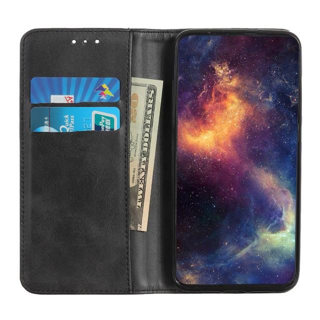 Samsung Galaxy S10 lite чехол книжка натуральная кожа черный - 1