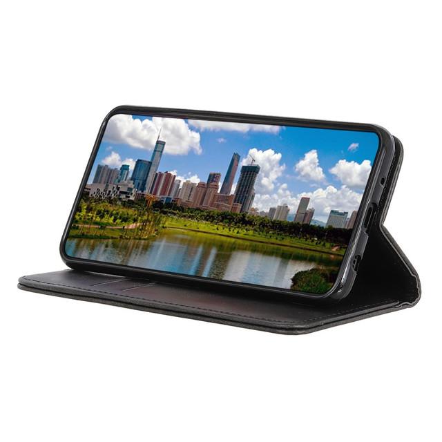 Samsung Galaxy S10 lite чехол книжка натуральная кожа черный - 3