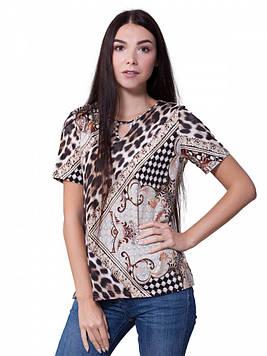 Красивая женская футболка большого размера (от L до 3XL)