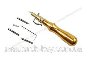 Грувер канавкорез зі змінними насадками Сталева ручка