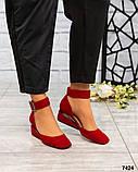 Элитная коллекция! Шикарные туфли из итальянской замши, фото 4