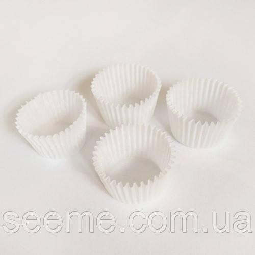 Бумажная тарталетка, 35*24 мм, цвет белый, 20 шт