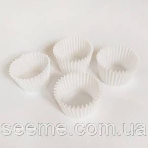 Бумажная тарталетка, 30*24 мм, цвет белый, 20 шт