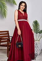 Вечернее платье в пол арт 35604 с  42 по 54 размер (бн)