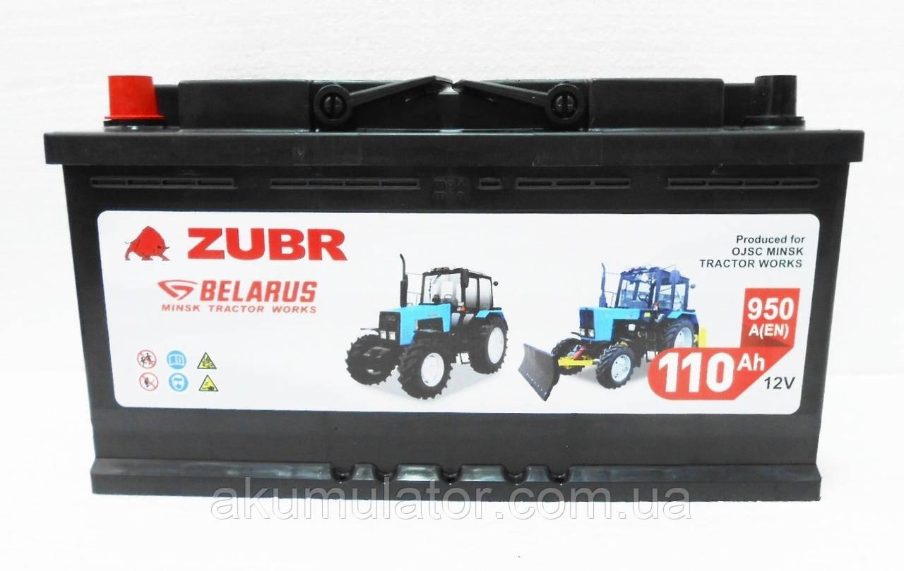Акумулятор автомобільний ZUBR  MTZ 110 (L+) (950А)