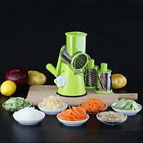 Мультислайсер для овощей и фруктов Kitchen Master Овощерезка, фрукторезка, слайсер, терка, фото 2
