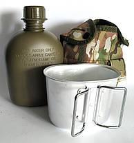 Туристична, армійська фляга з казанком у чохлі US Tactical Мультиків (flask-multic), фото 2