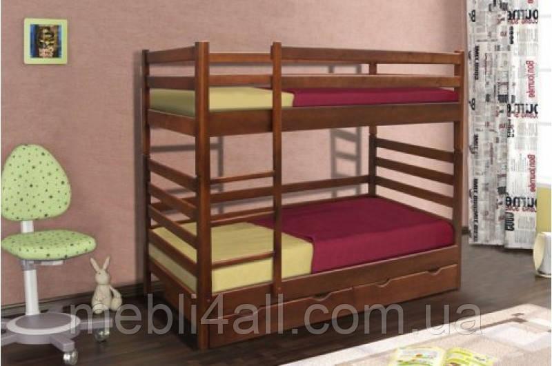 """Деревянная двухъярусная кровать-трансформер """"Засоня"""""""