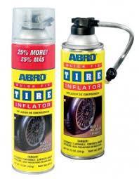 Герметик для шин Abro Quick Fix Tire Inflator с трубочкой аэрозоль 450 гр.