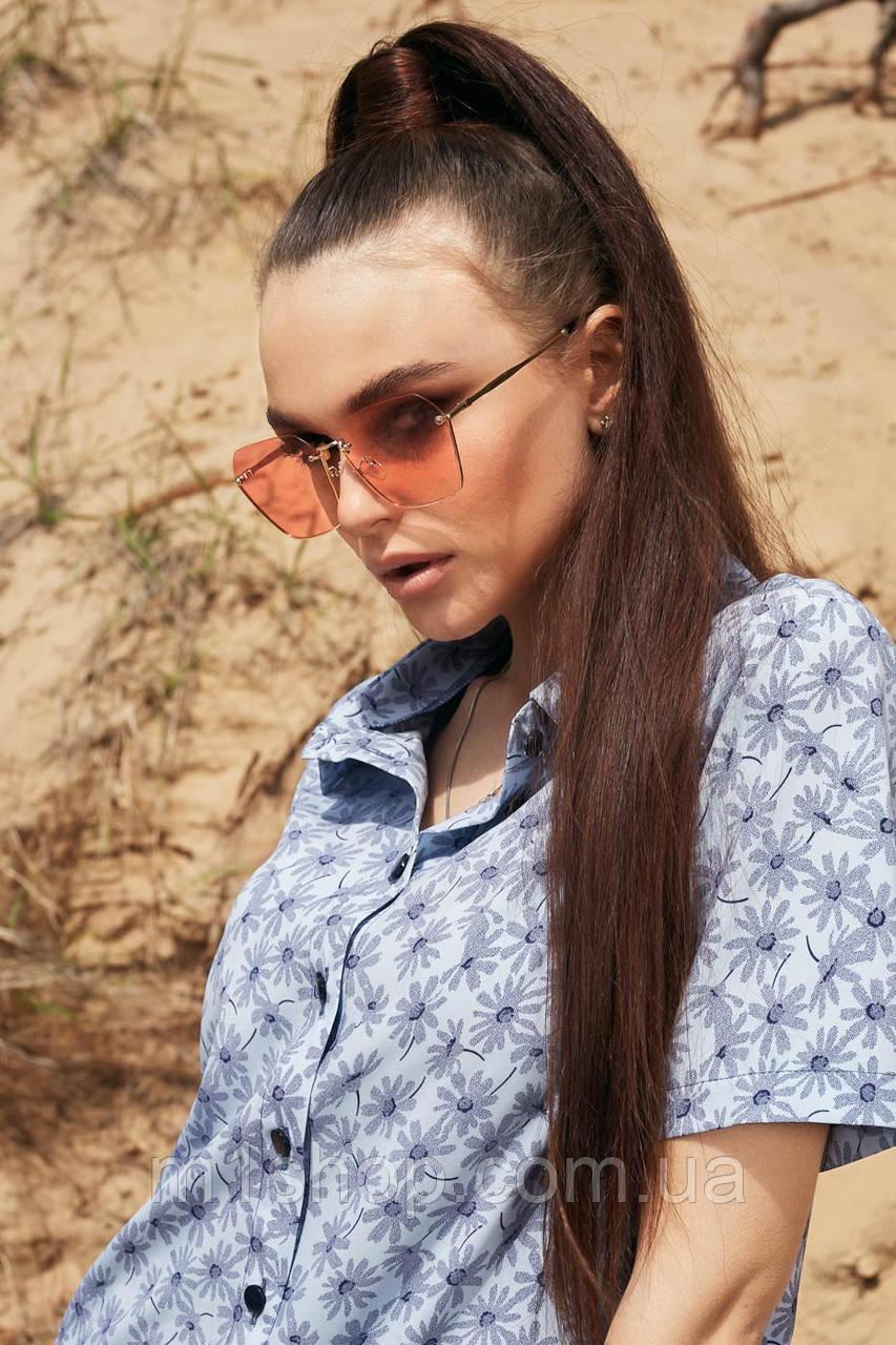 Солнцезащитные розовые очки с цветными линзами (1379.4151 svt)